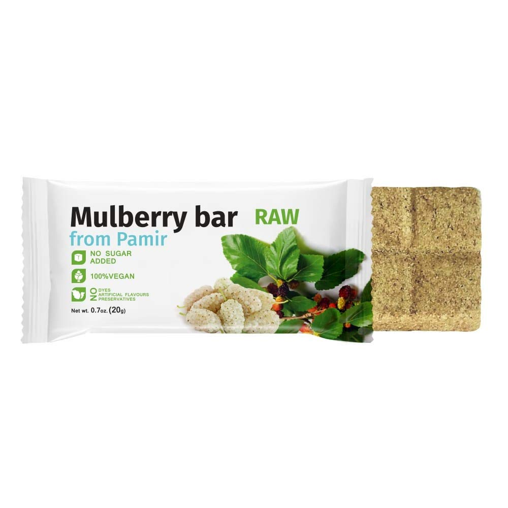 Mulberry Fruit Bar 7 Pack - Dried White Mulberries 100% Natural Energy Snacks RAW Sugarless Candies - Vegan - All Natural (Mulberry)