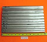 "10 Pieces 6061 T6 ALUMINUM ROUND ROD ASSORTMENT 1/2"" To 1-1/4"" Lathe Stock #6.2 1/2"", 5/8"", 3/4"", 7/8"", 1"", 1-1/4"""