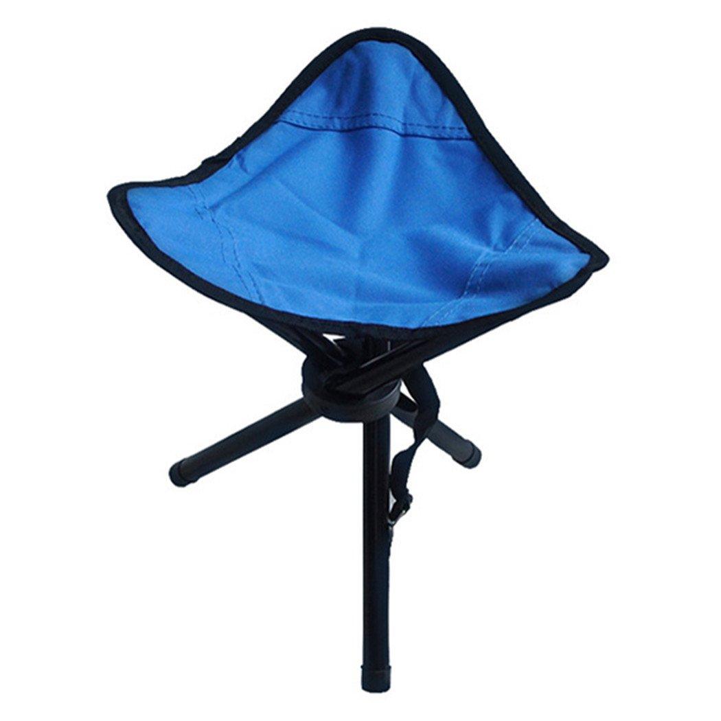 dannyrober三脚スツールハイキングFolding Chair with Shoulderストラップ B074133G4Q ブルー ブルー