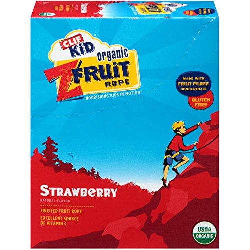 CLIF KID ZFRUIT - corde de fruits biologiques - fraise - (0,7 oz, 18 Count)