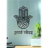 Good Vibes Hamsa Hand Version 1 Decal Sticker Wall Vinyl Art Blessings Power Strength Om