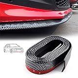 FOONEE Front Bumper Spoiler, Carbon Fiber Front Lip,Car Front Lip, DIY Decoration Refit Door Sill Protector Side Skirt for Truck, SUV, Etc (2.5m)-Carbon Black/red/Blue