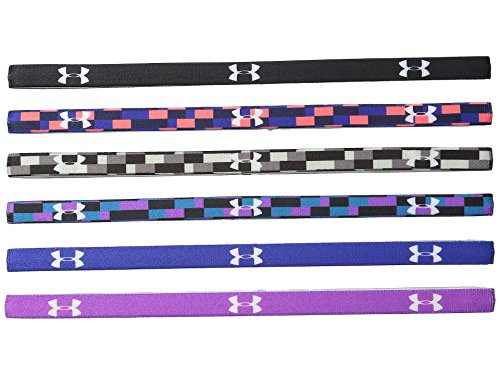 Price comparison product image Under Armour Women's UA Graphic Mini Headbands - 6 Pack One Size Black