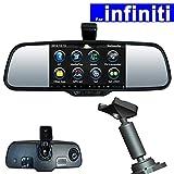 SZSS-CAR 5 inch Android Car Rear View Mirror DVR GPS Navi for infiniti ESQ QX80 QX60 JX35 Q50 Q50L Touch Screen Auto Monitor Bluetooth