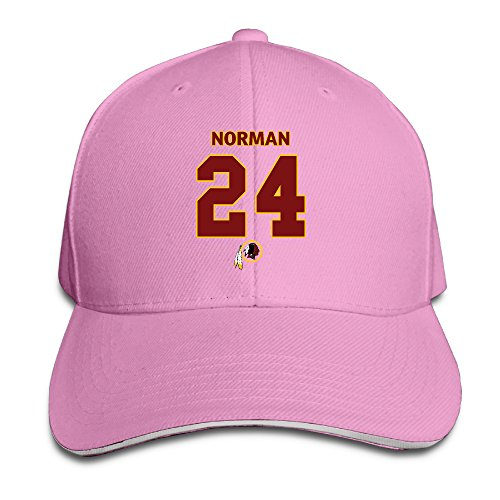 Hotboy19 Adult Washington #24 Football Player Adjustable Baseball Hat Pink
