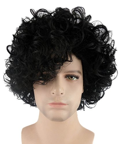 Halloween Party Online 80's Pop Star Prince Wig, Black Adult (Easy Pop Star Costumes)