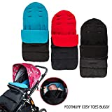 FP Universal Baby Stroller Sleeping Bag Toddler Footmuff Sack Swaddle Blanket for 0-36 Month (Red)