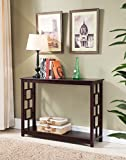 Kings Brand Furniture Wood Entryway Console Sofa Occasional Table, Cherry Review