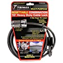 Trimax MAG10SC 10ft Combination Cable Lock