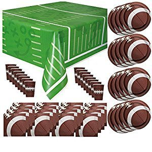 College Football Decorations - Football Game Day Party Supplies Pack