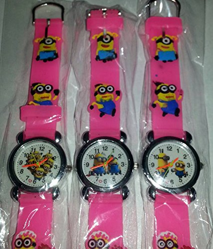 """Despicable Me """"Minions Movie"""" 7.5 inch Adjustable Watch (PINK) styles may vary"""