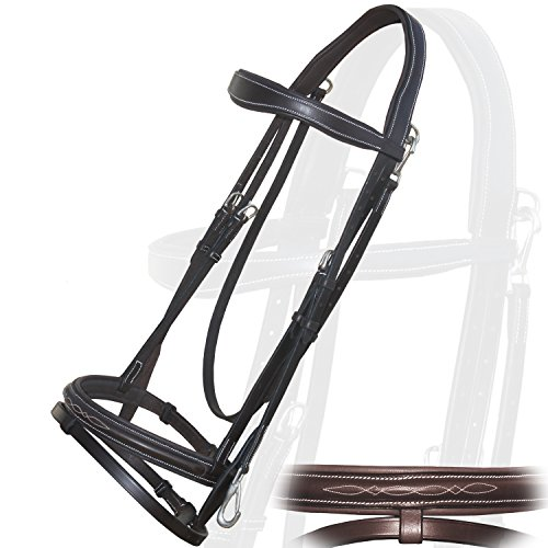 (Runners Quick Release Working Bridle with PP Rubber Grip Reins.)