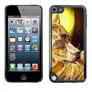 PC/Aluminum Funda Carcasa protectora para Apple iPod Touch 5 Golden Australian Terrier Sheep Corgi / JUSTGO PHONE PROTECTOR