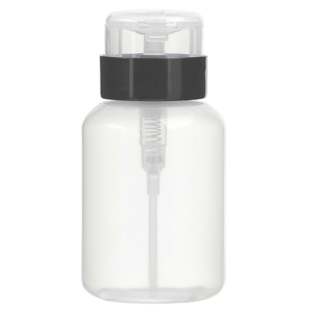 ae2090804af9 AKOAK Pack of 2 Push Down Empty Lockable Pump Dispenser Bottle for Nail  Polish and Makeup...
