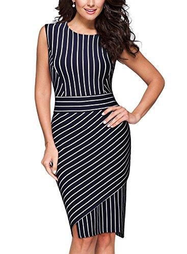 Miusol Womens Formal Stripe Bodycon