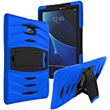 KIQ Galaxy Tab A 8.0 2015 T350 Case [NOT FIT 2017(T380) and 2018(T387)] Shockproof Heavy Duty Case Cover Full-Body for Samsung Galaxy Tab A 8.0 SM-T350 SM-T355 (2015)(Armor Blue)