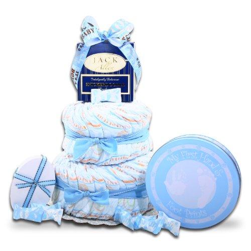 Alder Creek Gifts It's A Boy Diaper Cake Gift Basket, 2 Pound