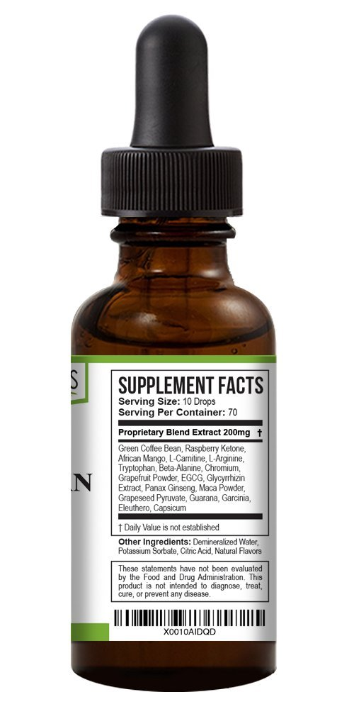Green Organics Green Coffee Bean Liquid Extract Weight Loss Supplements   Suppresses Appetite   Boosts Metabolism   No Preservatives, No Additives   100% Natural   2 Fl Oz by Green Organics (Image #3)