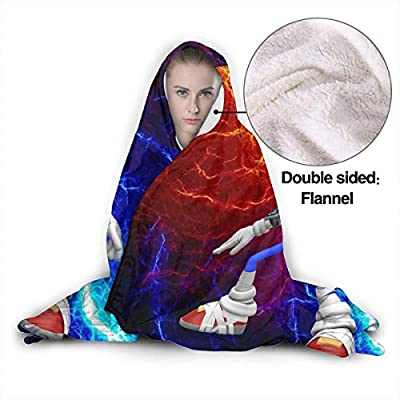 Autumn Hooded Blankets for Kids Toddler, Sonic Boom Era Forces Speed Battle Wearable Blankets for New Year, Living Room, Airplane, Against Shedding Warm Moving Throw Blanket: Home & Kitchen