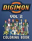 DIGIMON: Coloring Book for Kids and Adults - 80 illustrations (Volume 2)
