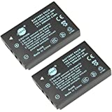 DSTE® 2x KLIC-5001 Replacement Li-ion Battery for Kodak Easyshare P712 P850 Z730 Z760 DX6490 DX7440 DX7590 DX7630 Zoom Sanyo DMX-WH1 VPC-HD2000 DMX-HD1010 DMX-FH11 VPC-WH1 DMX-HD2000 VPC-HD1010 VPC-HD1000 Camera as Sanyo DB-L50