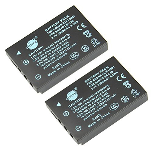 Replacement Li-ion Battery for Kodak P850 Z760 DX7590 DX7630 Zoom Sanyo DMX-FH1 FH11 HD1000 HD2000 VPC-WH1 VPC-HD1010 HD2000 Camera as Sanyo DB-L50 ()