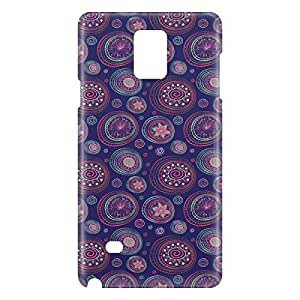 Loud Universe Samsung Galaxy Note 4 3D Wrap Around Paisley Print Cover - Multi Color