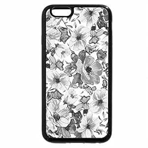 iPhone 6S Case, iPhone 6 Case (Black & White) - FLOWER PATTERN