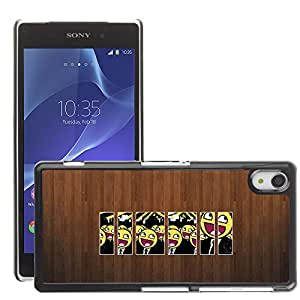 Super Stellar Slim PC Hard Case Cover Skin Armor Shell Protection // M00050852 picture aero smiley creative wood // Sony Xperia Z2
