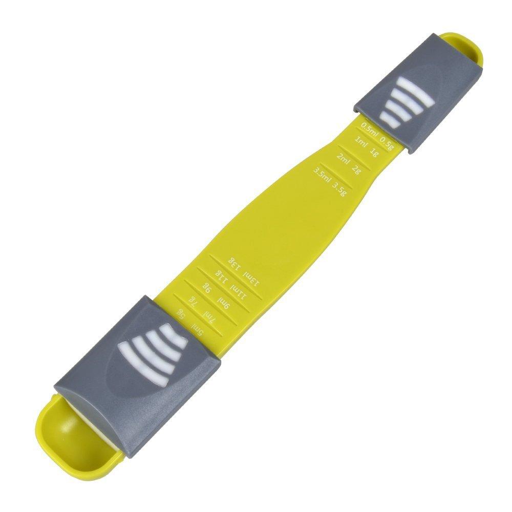 Measuring Spoon Adjustable,1 Pack Double Sided Metering Spoon for Dry or  Liquid Ingredients,Gram and ML Measuring Spoon,Kitchen Metric Spoon for