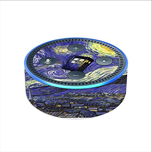 Generation Skin Cover - Skin Decal Vinyl Wrap for Amazon Echo Dot 2 Stickers Skins Cover (2nd Generation) / Tardis Starry Night
