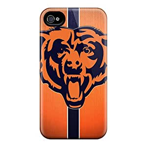 Fashion Tpu Case For Iphone 4/4s- Chicago Bears Defender Case Cover