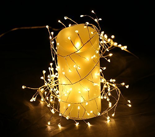 5 5ft Cluster Lights Led Fairy Starry Candleholder Wreath