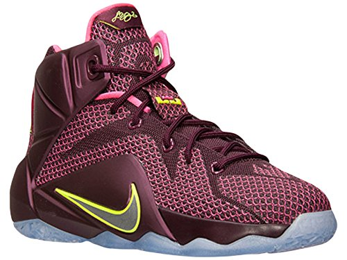 Kids-Nike-LeBron-12-GS-Basketball-Shoes-MerlotVolt-Pink-Pow-685181-600-45Y