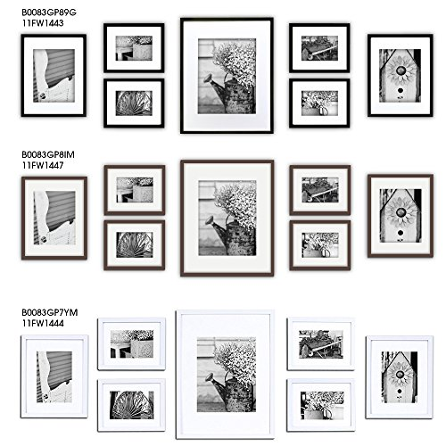 Gallery Perfect 7 Piece Black Photo Frame Wall Gallery Kit