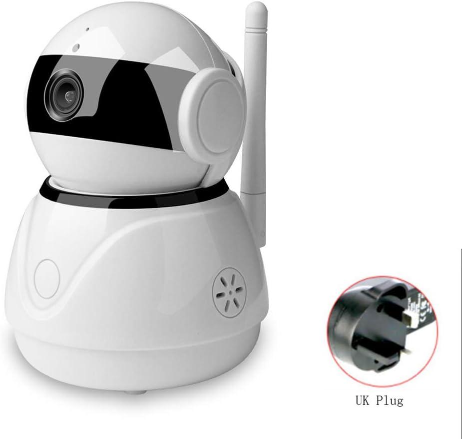 Pan Tilt Smart Home Cámara IP Wi-Fi Almacenamiento en la Nube Audio bidireccional WiFi Trabajo con Amazon Echo Dot Asistente de Google,UKPlug: Amazon.es: Hogar