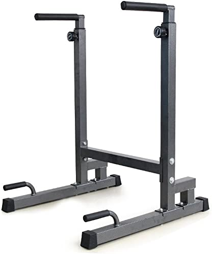 Livebest Heavy Duty Adjustable Power Tower Multi-Function Strength Training Dip Stand Workout Station Fitness Equipment