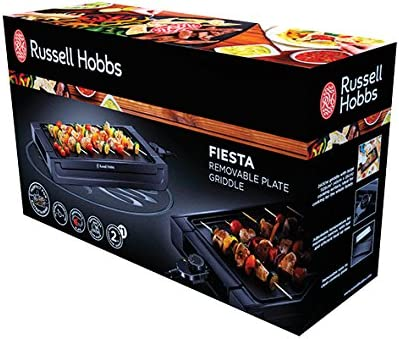 Russell Hobbs Plancha Electrique 2400W Intérieur Extérieur - 22550-56 Fiesta