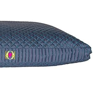 HuggleHounds Chew Resistant TuffutLuxx Bed with Waterproof Liner, Medium, Atlantic Night