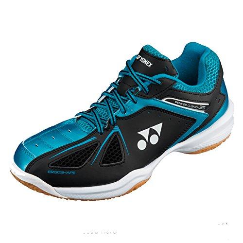 Yonex SHB 34 35 EX 2017 NEW Indoor Court Shoes (35 Black Blue, M7/W8.5/25cm)