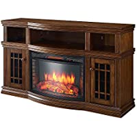 Glendon 57 TV Stand with Electric Fireplace Finish: Burnished Pecan