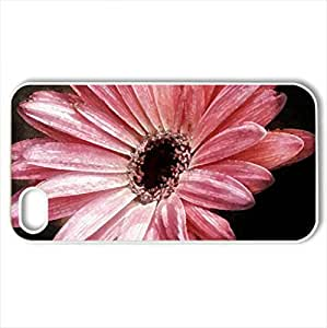 Gerbera - Case Cover for iPhone 4 and 4s (Flowers Series, Watercolor style, White)