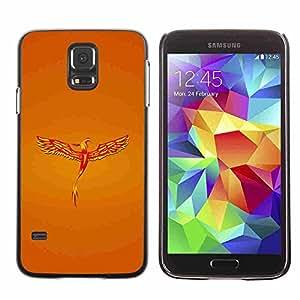 Shell-Star ( Golden Phoenix ) Fundas Cover Cubre Hard Case Cover para Samsung Galaxy S5 V SM-G900