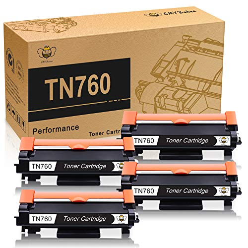 CYMBabee Compatible Toner Cartridge Replacement with Chips TN-760 TN-730 Black High Yield for Printer Brother MFC-L2730DW DCP-L2550DW HL-L2350DW ()