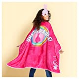 TROLLS POPPY SUPER BLANKY BED BLANKETS 46''X60'' ALL IN ONE CAP AND THROW INLCLUDED MASK