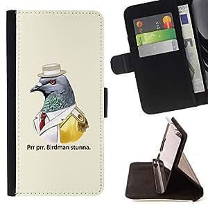 Momo Phone Case / Flip Funda de Cuero Case Cover - Divertido Birdman;;;;;;;; - HTC Desire 626