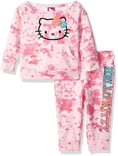 Hello Kitty Baby Girls Jogger Pant Set with Crew Neck Top