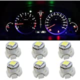 Partsam 6x White T3 Neo Wedge SMD LED Light A/c Climate Heater Controls Lamps Gauge Bulbs