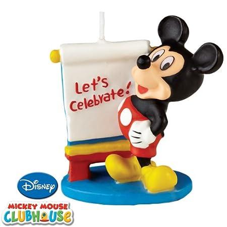 Mickey Mouse cumpleaños Vela (3 unidades): Amazon.es: Hogar