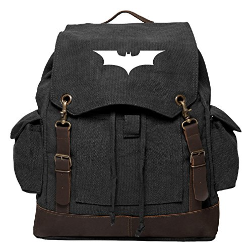Batman Begins The Dark Knight Rucksack Backpack with Leather Straps